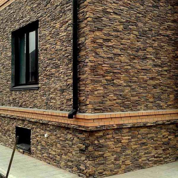 Декоративный камень на фасаде