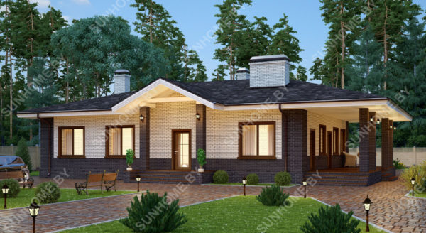 проект дома вид спереди