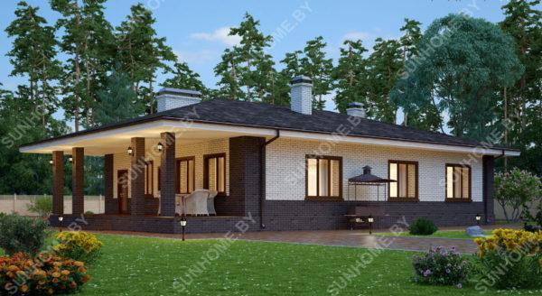 Проект дома вид сбоку