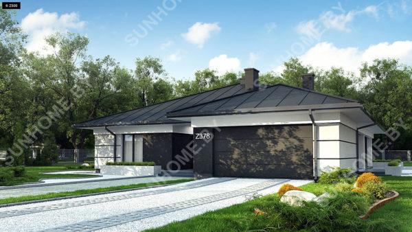 Вид дома спереди